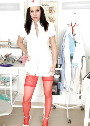 Exposednurses Emma Pearl Clear Stockings Mmcf Wearing