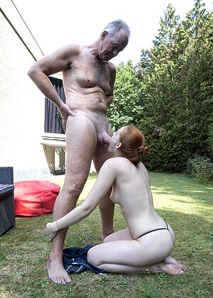 Oldje Red Linx Spot Grandpa Backside Pussy