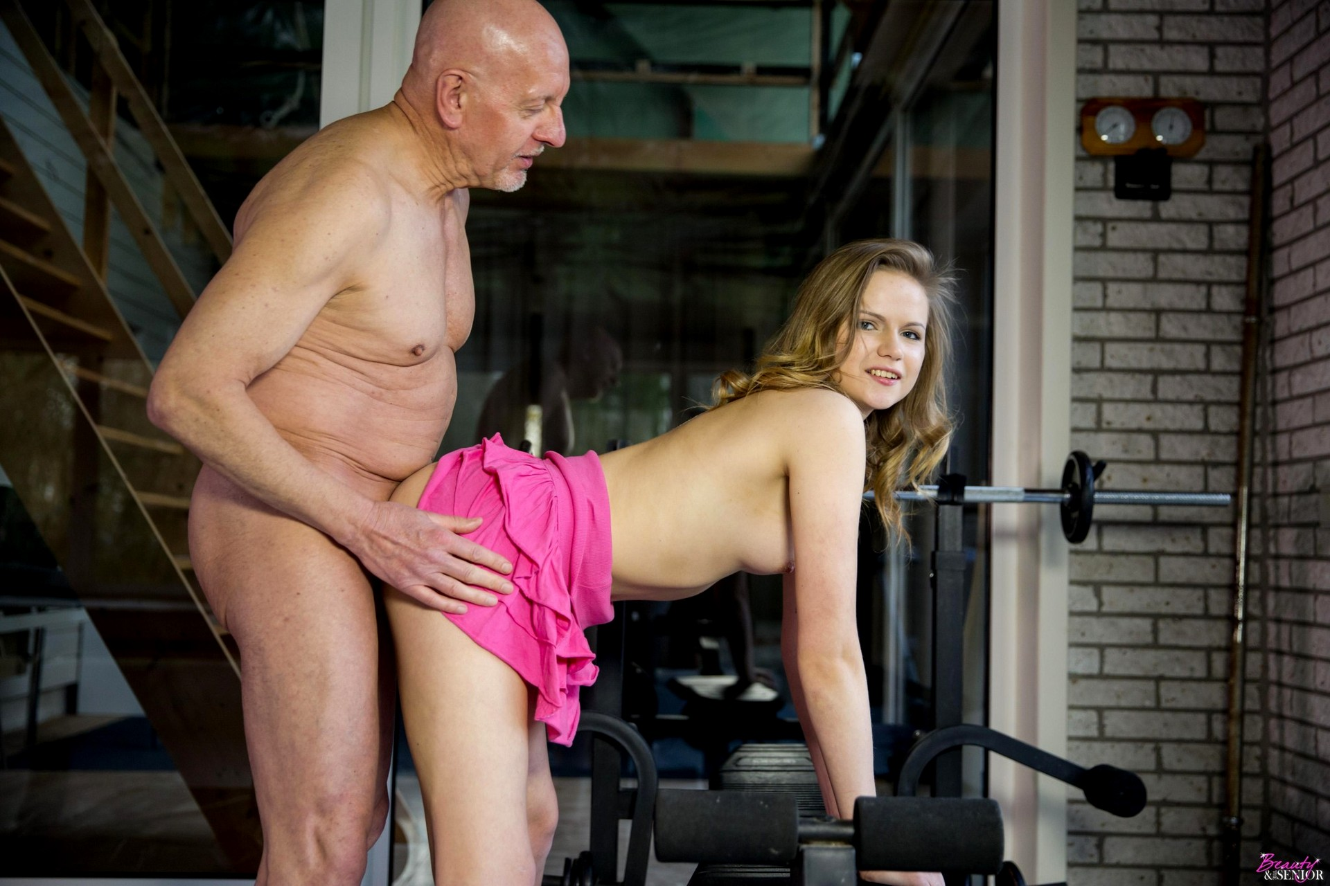 Beauty and the senior anal
