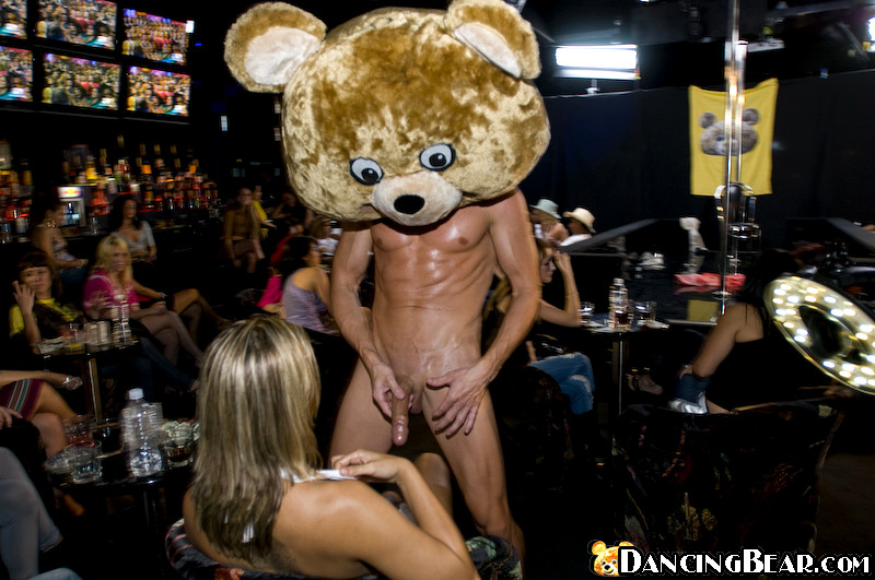 Dancing bear earrings-2182