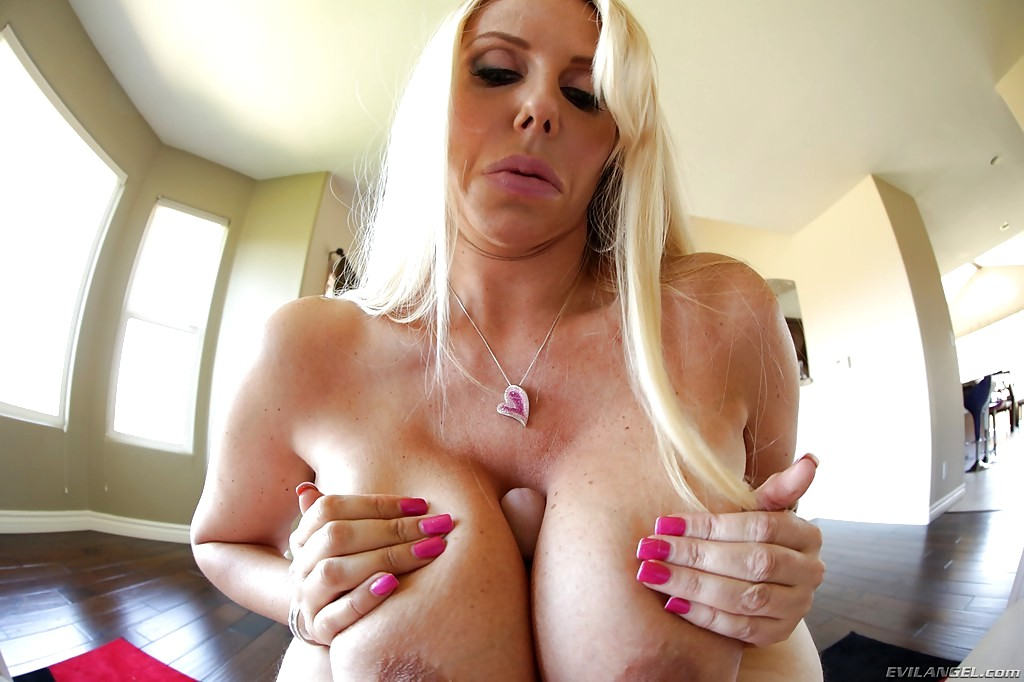 Platinum Blonde Big Tits Milf